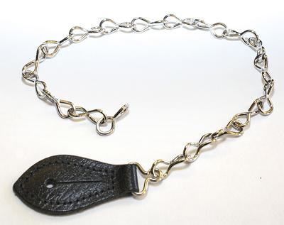 Chain with Leather Tab