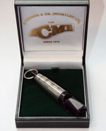 Acme Plastic Dog Whistle with sterling silver sleeve