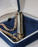 Silver Plated Silent Dog Whistle with box