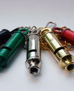 Coloured Metal Police Whistle