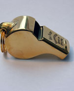 Brass Thunderer whistle large